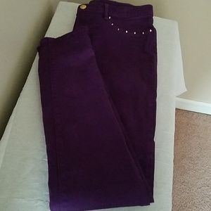 JUICY COUTURE NWOT BLK LABEL PLUM STUDDED SKINNY